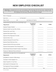 employee hiring checklist new hire samples forms notarized letter