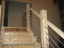 home cable stair railing u2014 railing stairs and kitchen design