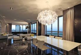 dining room fixture modern dining room chandelier over white dining table home