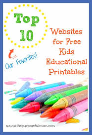 top 10 websites for free kids educational printables and the