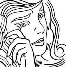 roy lichtenstein vector by roy lichtenstein coloring page free printable