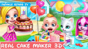 kids play and learn how to make cakes w real cake maker 3d game