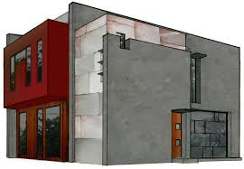 best decor of modern concrete block house plans fur 6402