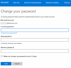 reset windows 8 password hotmail how to update or change email password in windows 10 mail