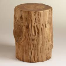 Nursery Side Table Teak Tree Stump Table World Market