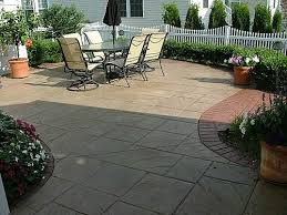 Textured Concrete Patio by Patios Pavers U0026 Stamped Conrete Montgomery County Roofing