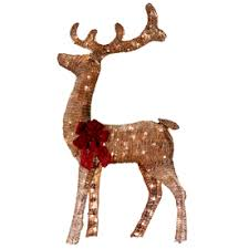 lighted reindeer living lighted reindeer outdoor christmas decoration with