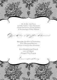 free wedding invitation sles black wedding invitation