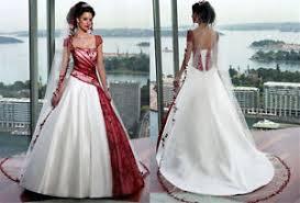 brautkleider rot neu weiß rot hochzeitskleid brautkleid brautkleider brauch gr 32