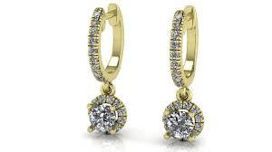 diamonds earrings 3d print model unique diamonds earrings 166 cgtrader