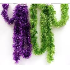 tinsel garland buy purple or lime green tinsel garland cappel s