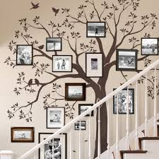 amazon com staircase family tree wall decal tree wall decal amazon com staircase family tree wall decal tree wall decal chestnut brown standard size 109 5 w x 105 h inch by simple shapes home kitchen