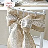 burlap chair sashes burlap chair sashes with lace shabby chic rustic