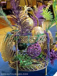 mardi gras table decorations with mardi gras centerpieces