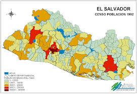 Population Density Map Of Canada by El Salvador Population Density Map 1992