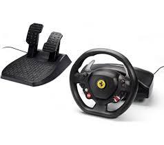 458 italia steering wheel thrustmaster 458 italia racing wheel pedals black