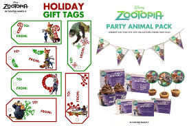 zootopia holiday themed activity sheets free printables for