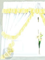 Yellow Kitchen Curtains Valances Gray And Yellow Kitchen Valance Conceptcreative Info