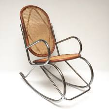 vintage wicker bamboo chrome rocking chair rocking chair chrome