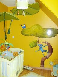 chambre jungle enfant stickers quatre perroquets stickers décoratifs enfants idzif