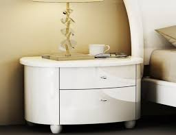 Contemporary White Nightstand Modern And Contemporary Bedrooms Furniture Designs