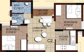 700 sq ft 2 bhk 1t apartment for sale in akshaya homes tango