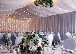 Ceiling Drapes With Fairy Lights Wedding Tasmania Wedding Styling Wedding Stylist In Tasmania