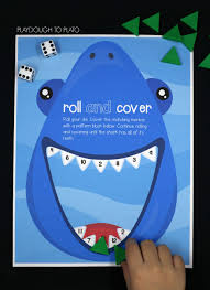 shark roll and cover playdough to plato