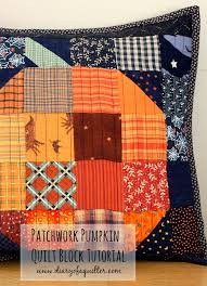 halloween pillows patchwork pumpkin pillow and table runner tutorial table runner