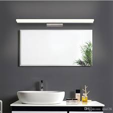 bathroom mirror and light 2018 bathroom mirror light led wall light mirror front makeup led