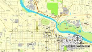 map of oregon eugene eugene oregon us printable vector city plan map