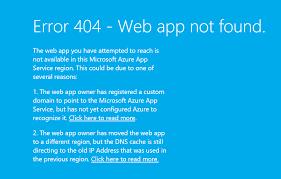erro 404 no encontrado geapcombr error 404 app not found after configuring custom domain on azure