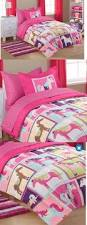 Girls Bed In A Bag by U0027s Pink Unicorn Patchwork Print Comforter Set Gi Http