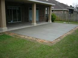 Backyard Concrete Patio Astounding Pictures Of Concrete Patios 35 With Additional House