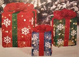 gift boxes christmas light up gift boxes set of 3 outdoor christmas
