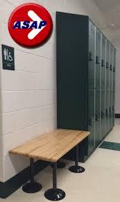 locker benches ada locker room bench with choice of pedestals
