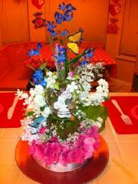 Butterfly Table Centerpieces by Centerpiece With 1 Foam Ball With Flowers U0026 Butterflies Child U0027s