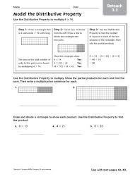 distributive property of multiplication worksheets 4th grade