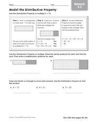 multiplication distributive property worksheets u0026 worksheet 595800