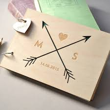 monogram guest book custom monogram guest book rustic wedding guest book wood mr