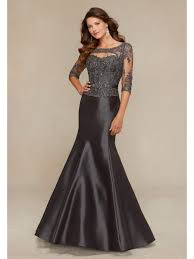 affordable dresses 3 4 length sleeve mermaid satin lace appliques formal evening