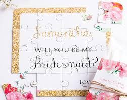 bridesmaid asking gifts asking bridesmaid etsy