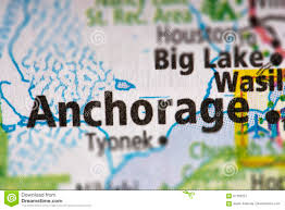 Anchorage Alaska Map by Anchorage Alaska On Map Stock Photo Image 87763227