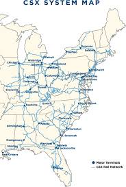 csx railroad map transportation logistics mamac