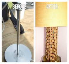 Cheap Lamps Customize Your Own Lamp With Mosaic Tile Uses Pvc Pipe As Base