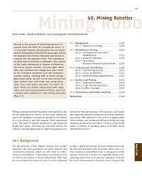 mining robotics pdf download available