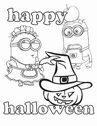happy halloween coloring pages minion coloringstar