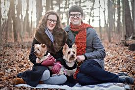 family christmas card with dogs photo season outdoor themed