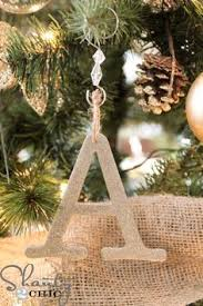Glitter Spray For Christmas Decorations by Glitter Letter Ornaments For Only 1 A Pottery Barn Knock Off