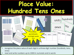 place value hundreds tens ones units teacher notes digit cards